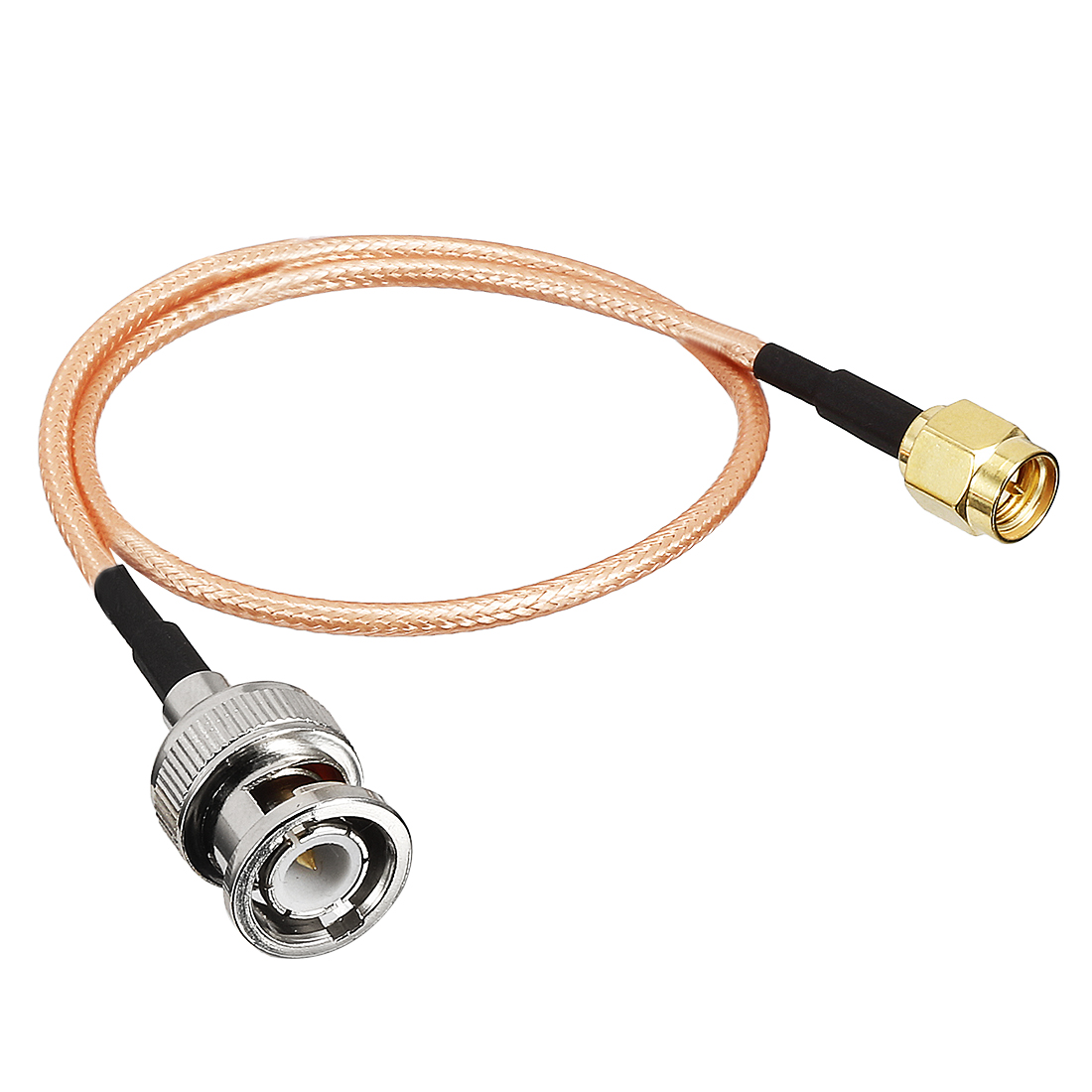 30cm Cable Length SMA Male to BNC Male Jack RF Coaxial Adapter Connector