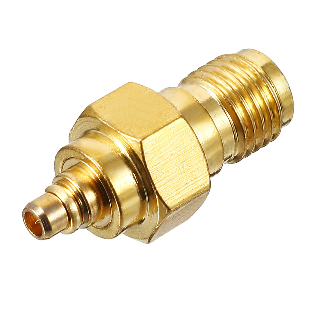 Gold Tone SMA Female to MMCX Male Jack RF Coaxial Adapter Connector