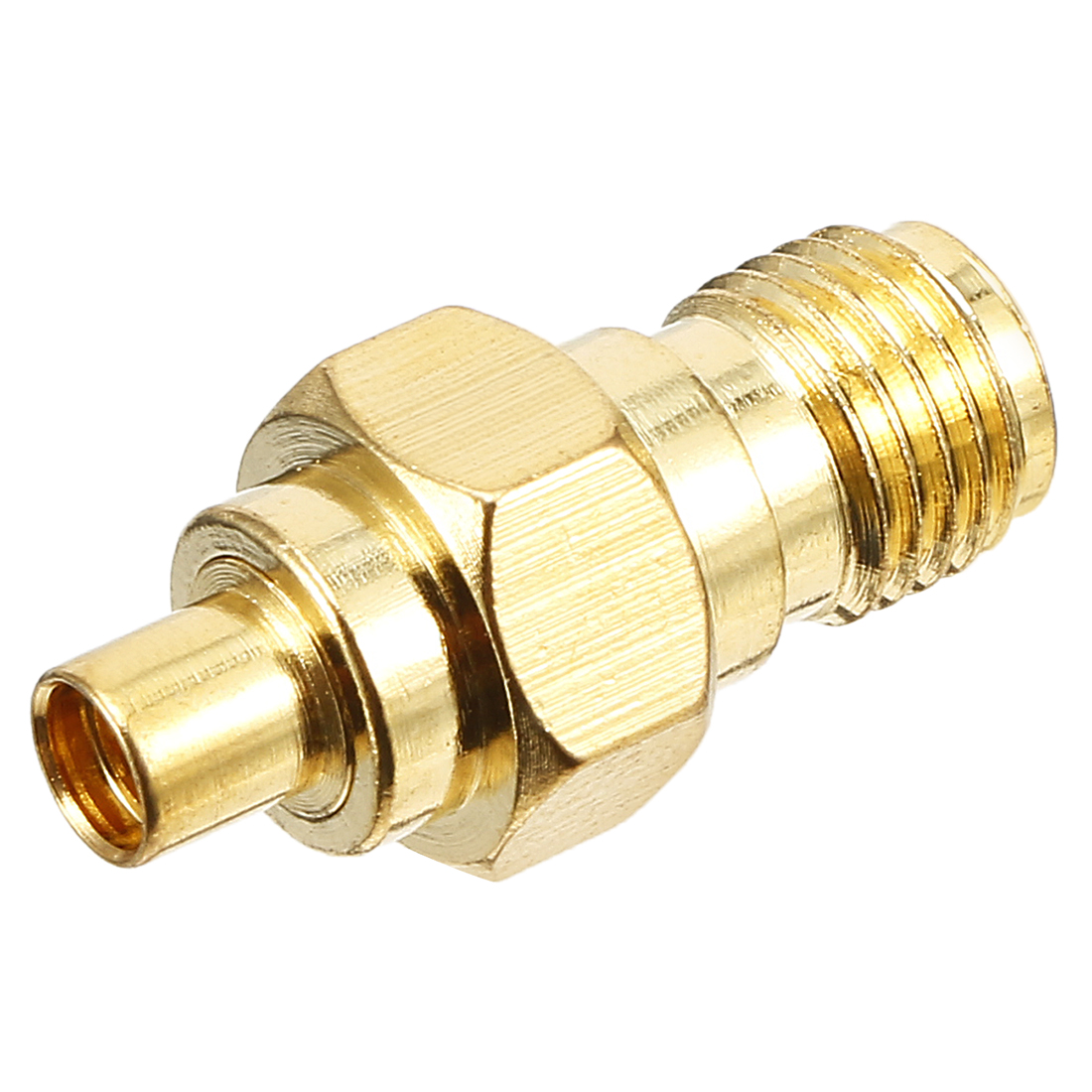 Gold Tone SMA Female to MMCX Female Jack RF Coaxial Adapter Connector