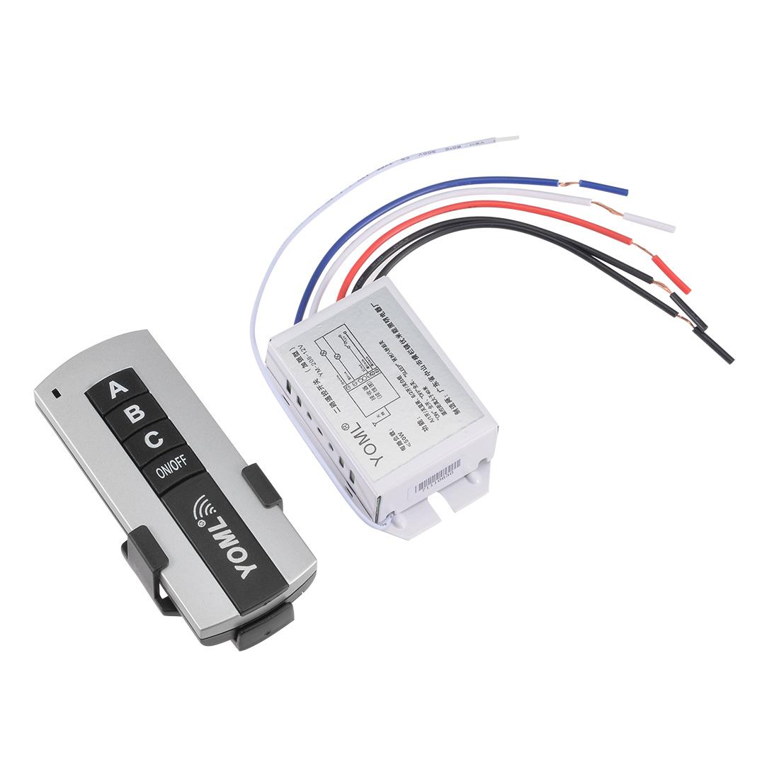 Home Lighting DC 12V 2 Port Wireless Digital RF Remote Control Lamp Switch