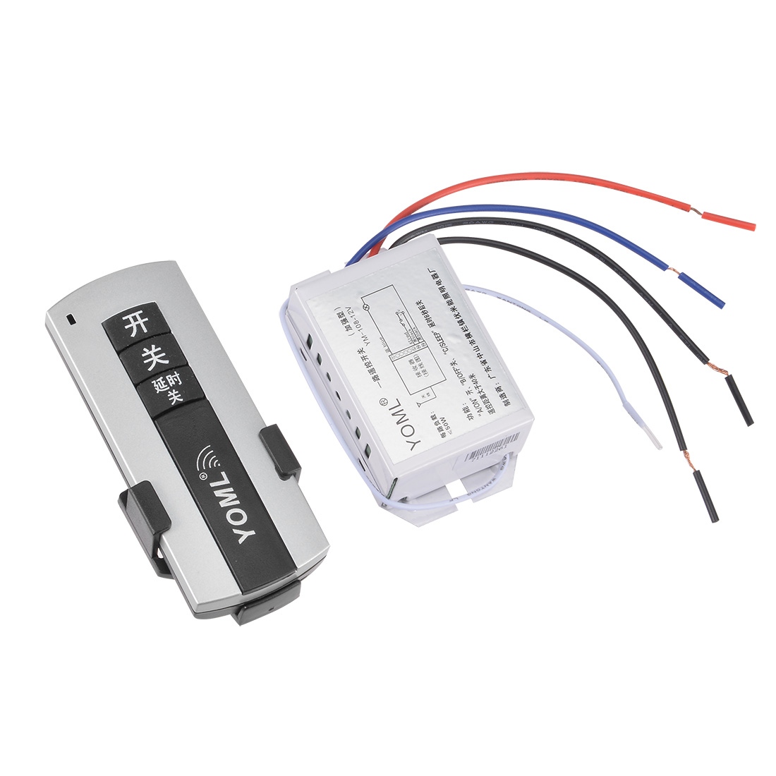 DC 12V 1 Port Buttons Wireless Digital RF Remote Control Lamp Switch 315MHZ