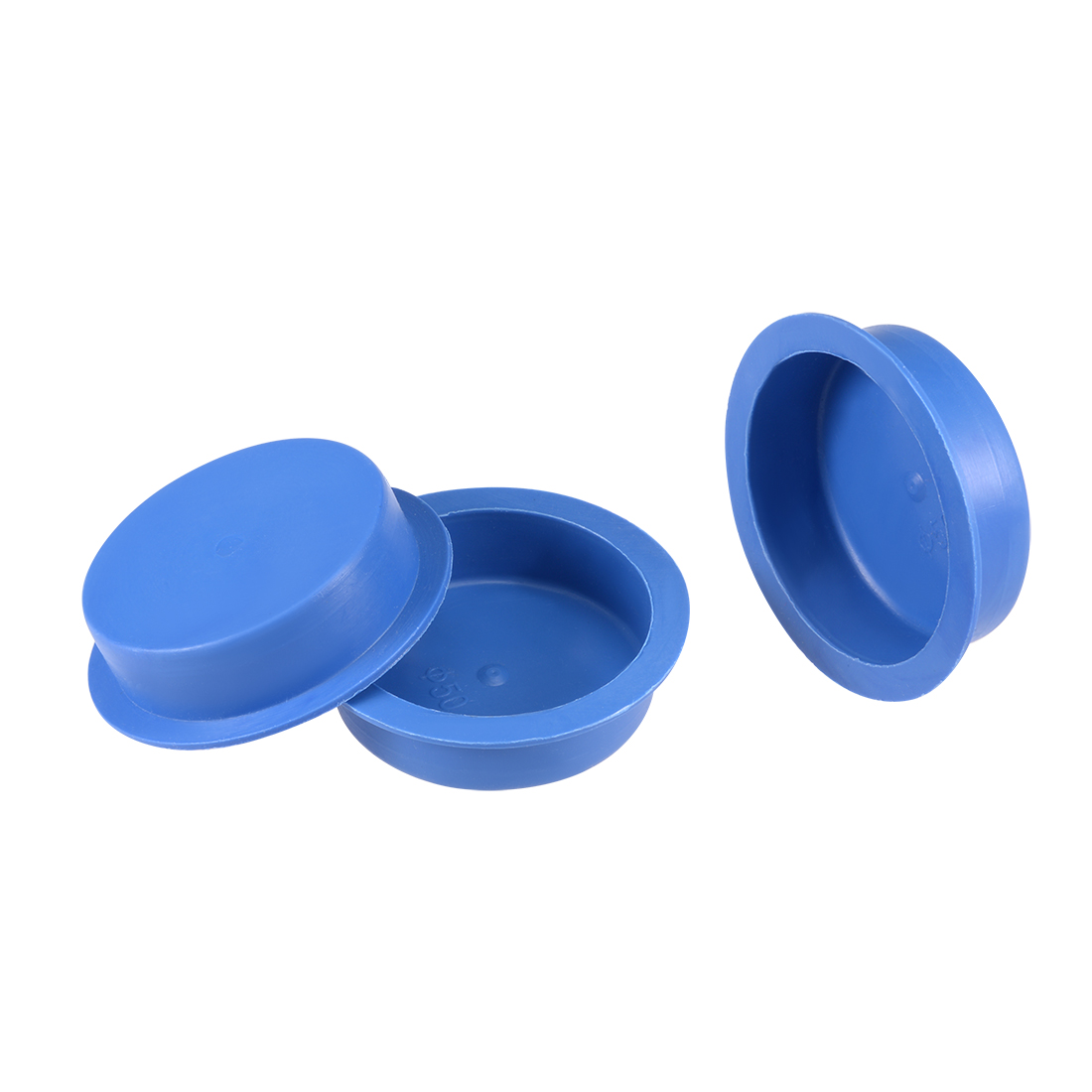10pcs PE 50mm x 15mm Round Head Hole Stoppers Waterproof Tapered Caps Blue