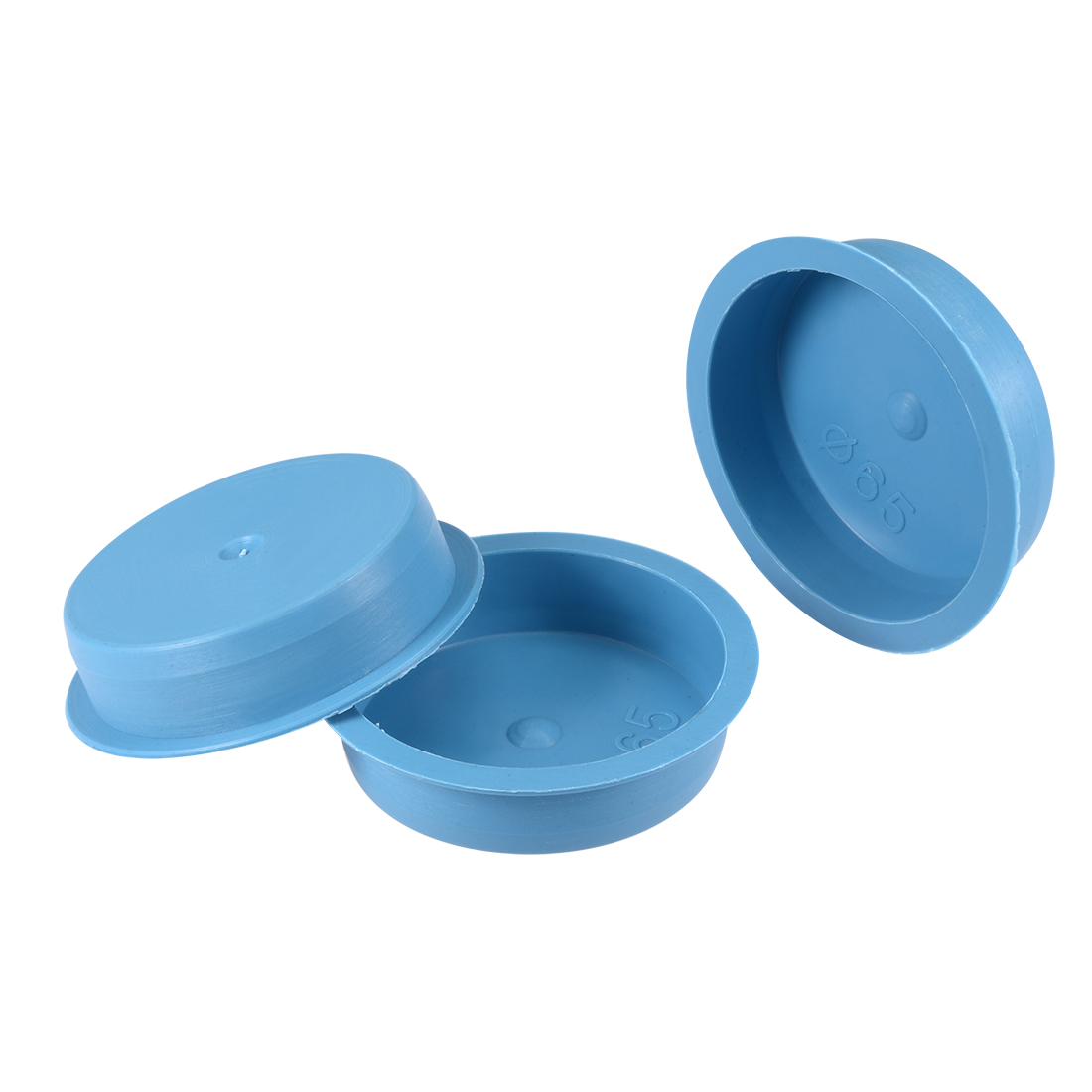 10pcs PE 65mm x 17mm Round Head Hole Stoppers Waterproof Tapered Caps Blue