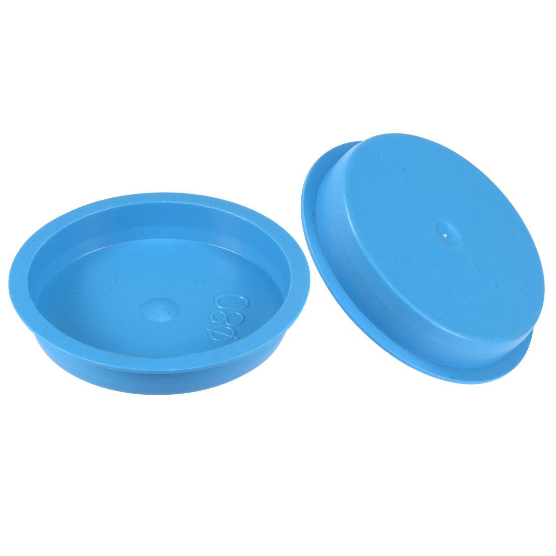 10pcs PE 80mm x 15mm Round Head Hole Stoppers Waterproof Tapered Caps Blue