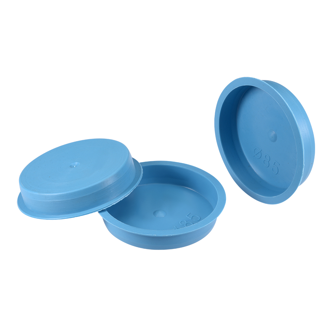 10pcs PE 85mm x 18mm Round Head Hole Stoppers Waterproof Tapered Caps Blue