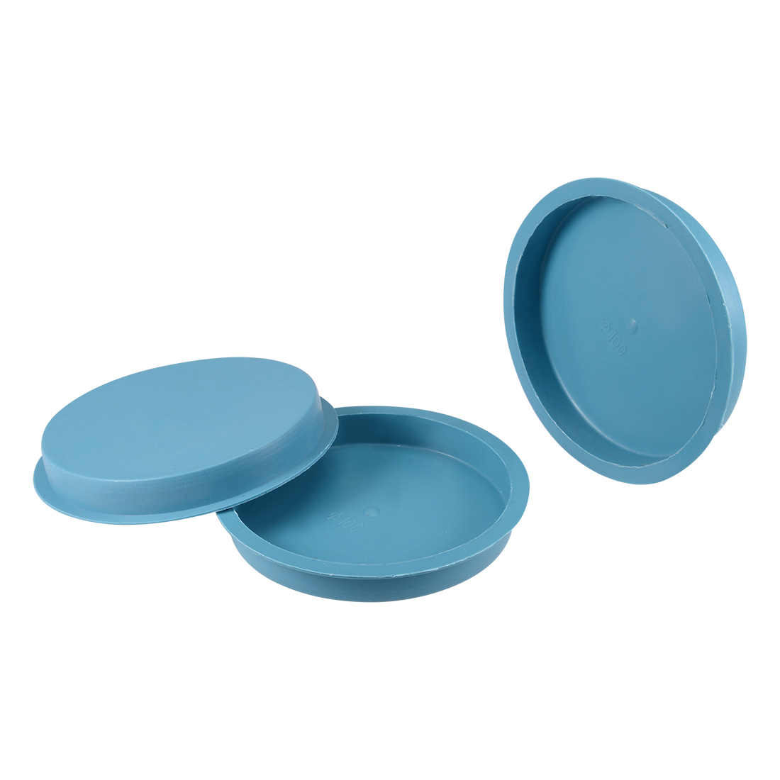 10pcs PE 100mm x 15mm Round Head Hole Stoppers Waterproof Tapered Caps Blue