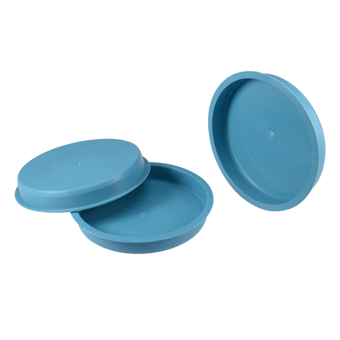 10pcs PE 115mm x 18mm Round Head Hole Stoppers Waterproof Tapered Caps Blue