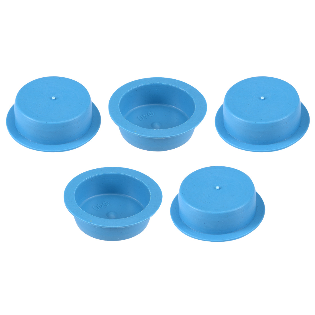 5pcs PE 40mm x 15mm Round Head Hole Stoppers Waterproof Tapered Caps Blue