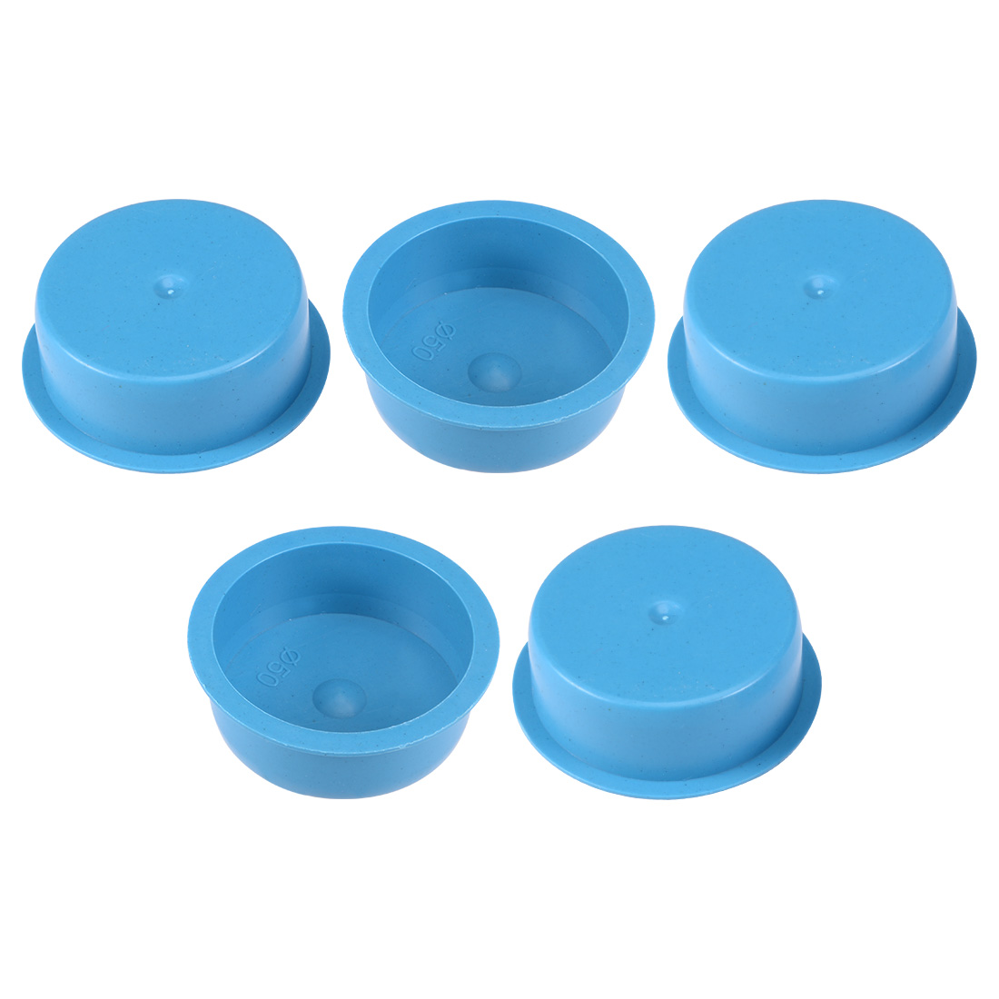 5pcs PE 50mm x 20mm Round Head Hole Stoppers Waterproof Tapered Caps Blue