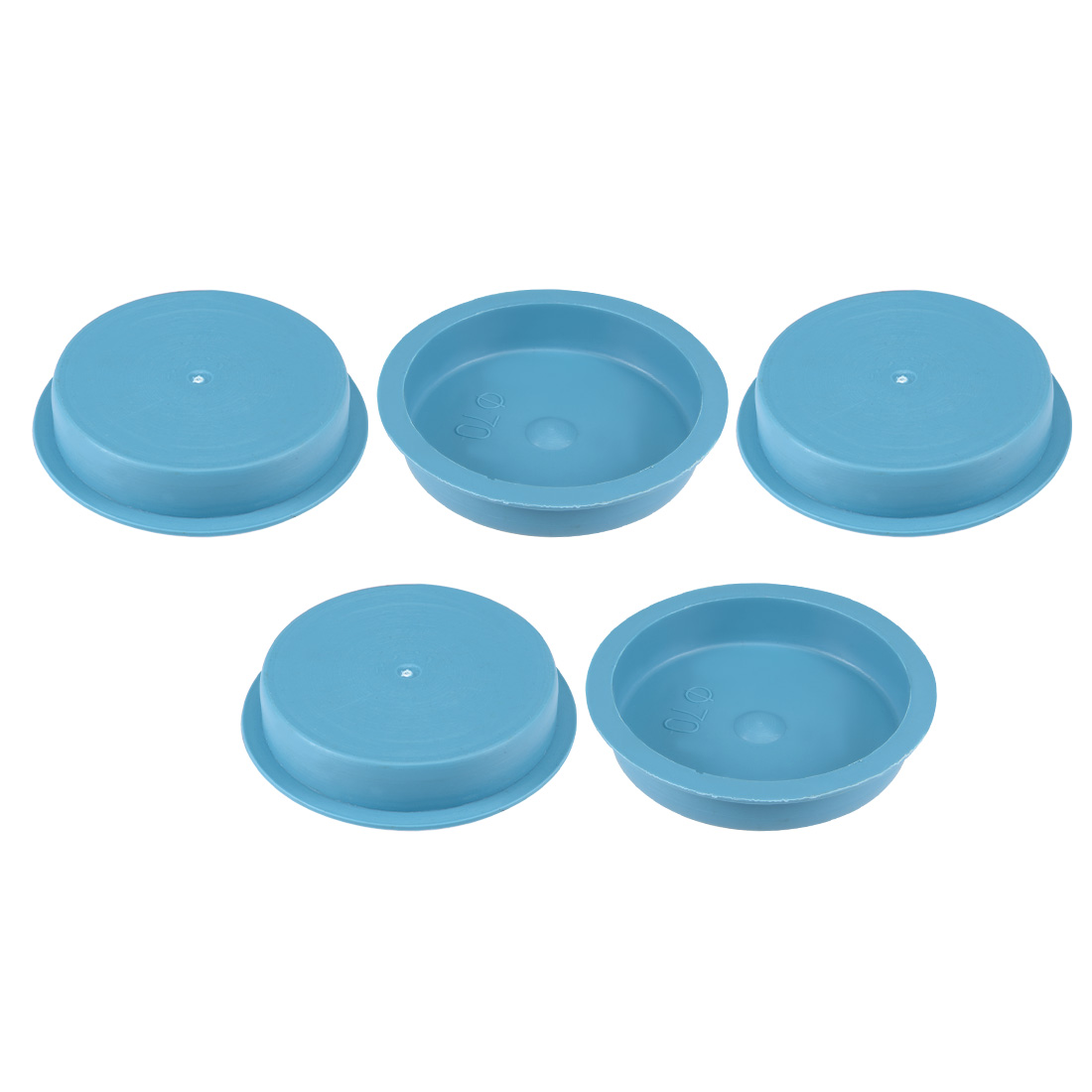 5pcs PE 70mm x 15mm Round Head Hole Stoppers Waterproof Tapered Caps Blue