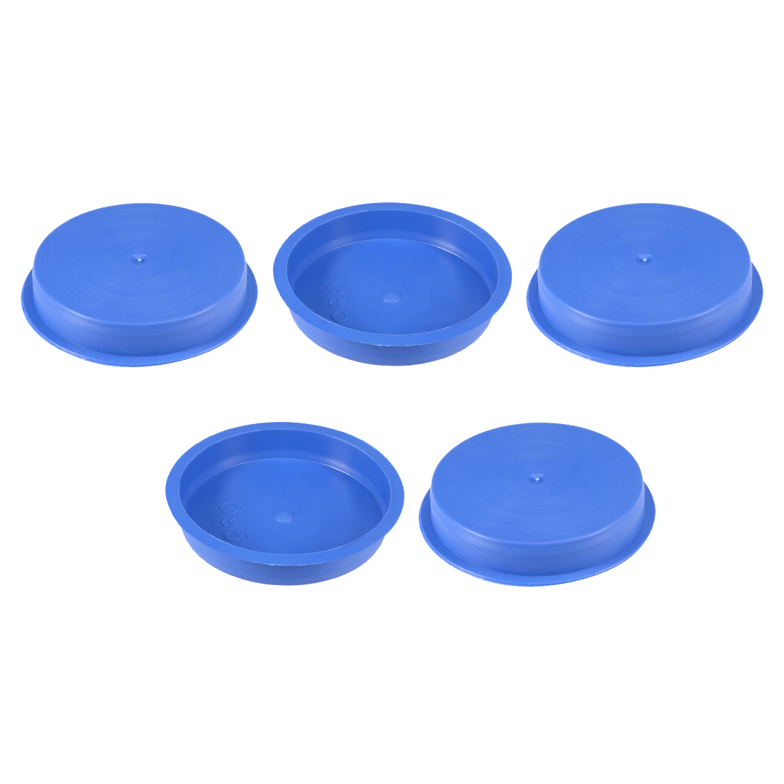 5pcs PE 95mm x 18mm Round Head Hole Stoppers Waterproof Tapered Caps Blue