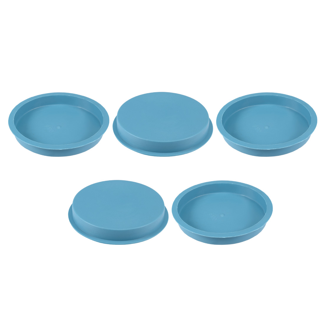 5pcs PE 100mm x 15mm Round Head Hole Stoppers Waterproof Tapered Caps Blue