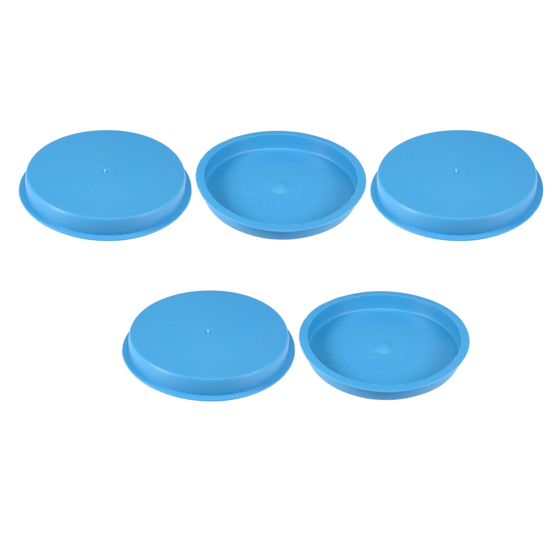 5pcs PE 120mm x 15mm Round Head Hole Stoppers Waterproof Tapered Caps Blue