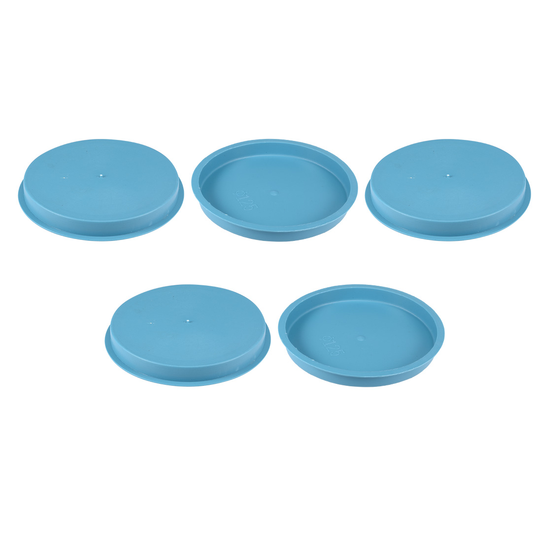 5pcs PE 125mm x 15mm Round Head Hole Stoppers Waterproof Tapered Caps Blue