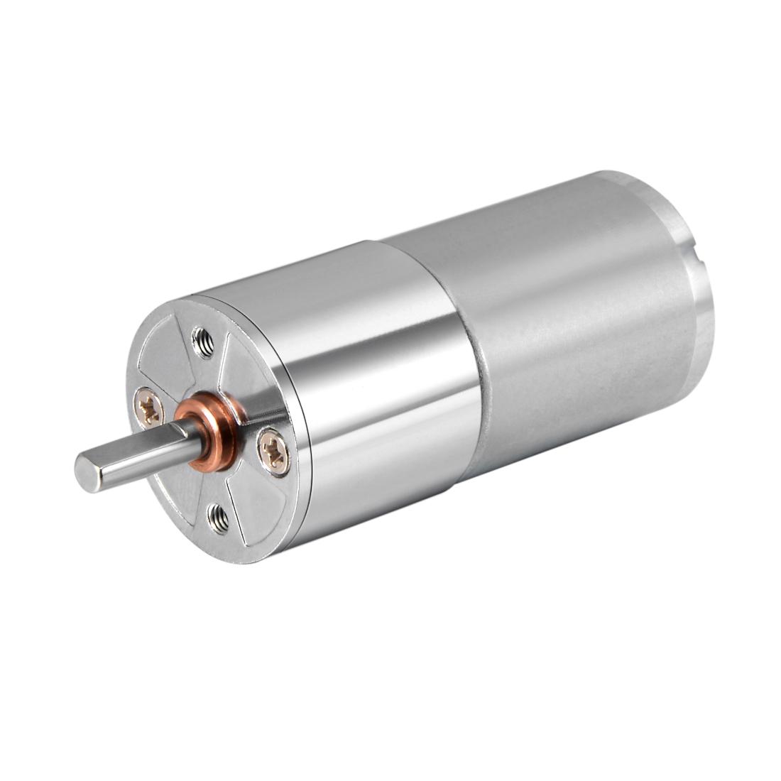 12V DC 80 RPM Gear Motor High Torque Reduction Gearbox Centric Output Shaft