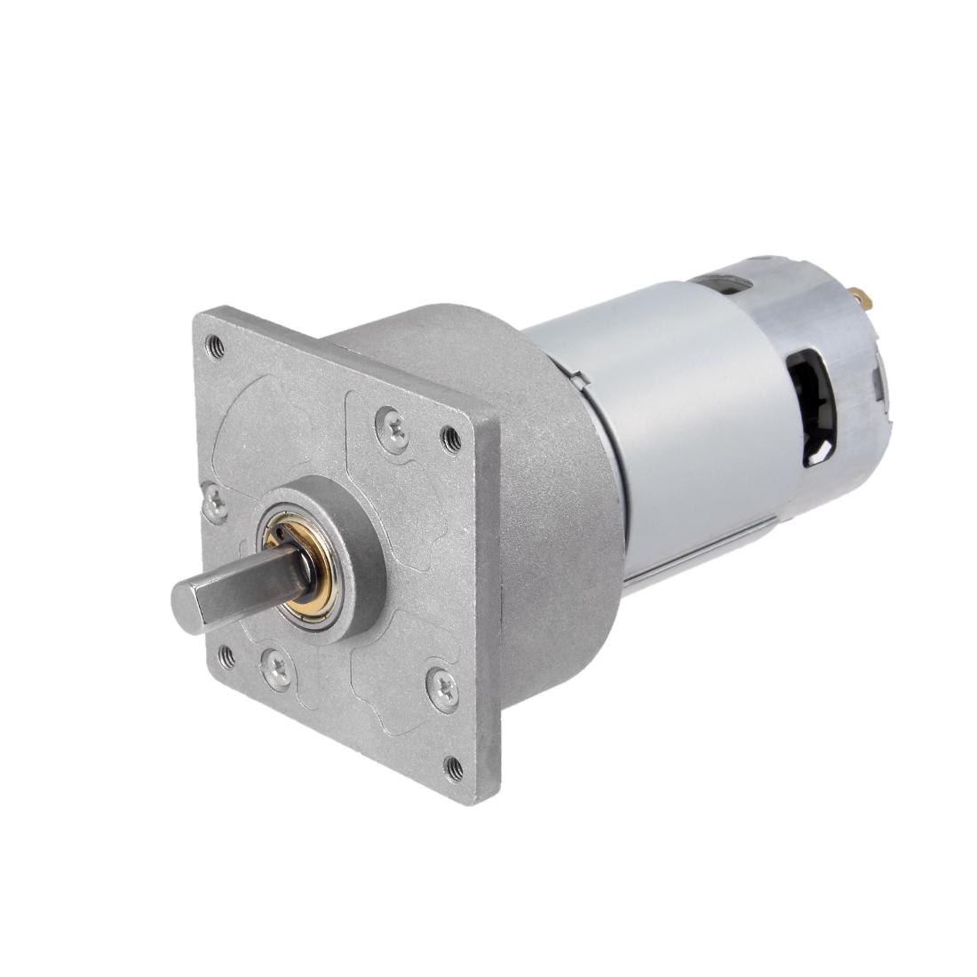 12V DC 150 RPM Gear Motor High Torque Reduction Gearbox Centric Output D Shaft