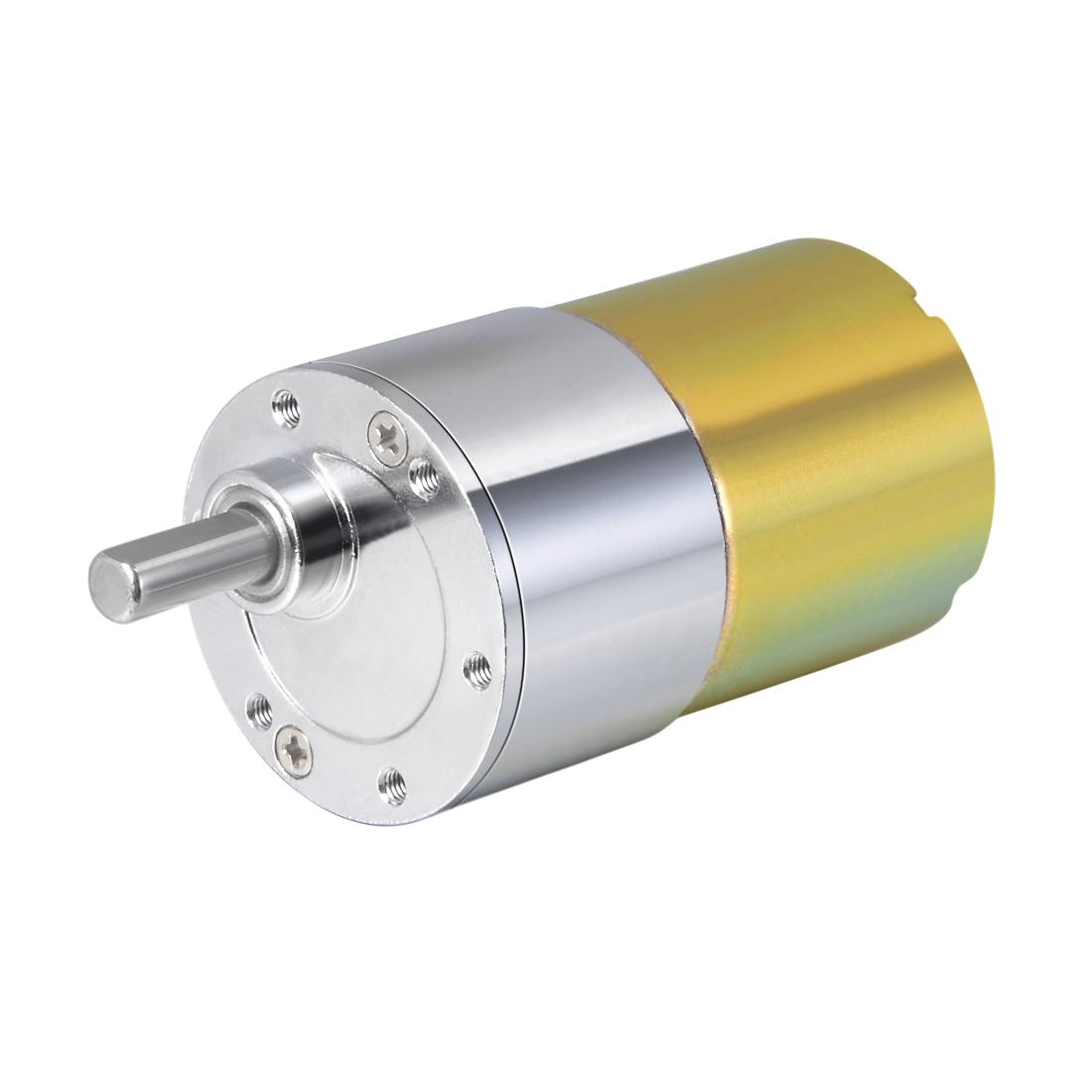 24V DC 600 RPM Gear Motor High Torque Reduction Gearbox Eccentric Output Shaft