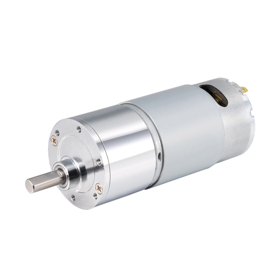 24V DC 300 RPM Gear Motor High Torque Reduction Gearbox Eccentric Output D Shaft