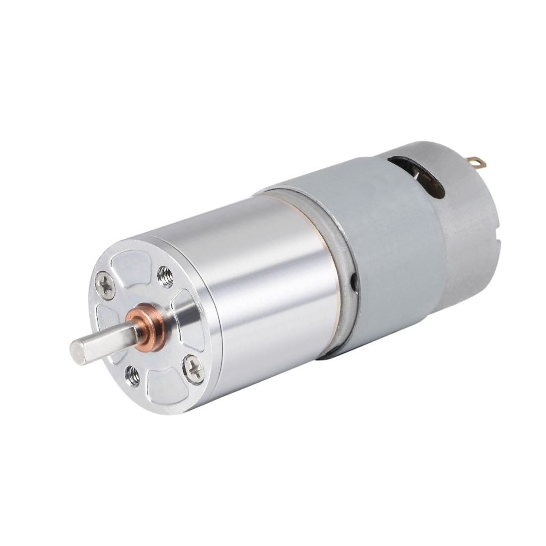 12V DC 30 RPM Gear Motor High Torque Reduction Gearbox Centric Output D-Shaft
