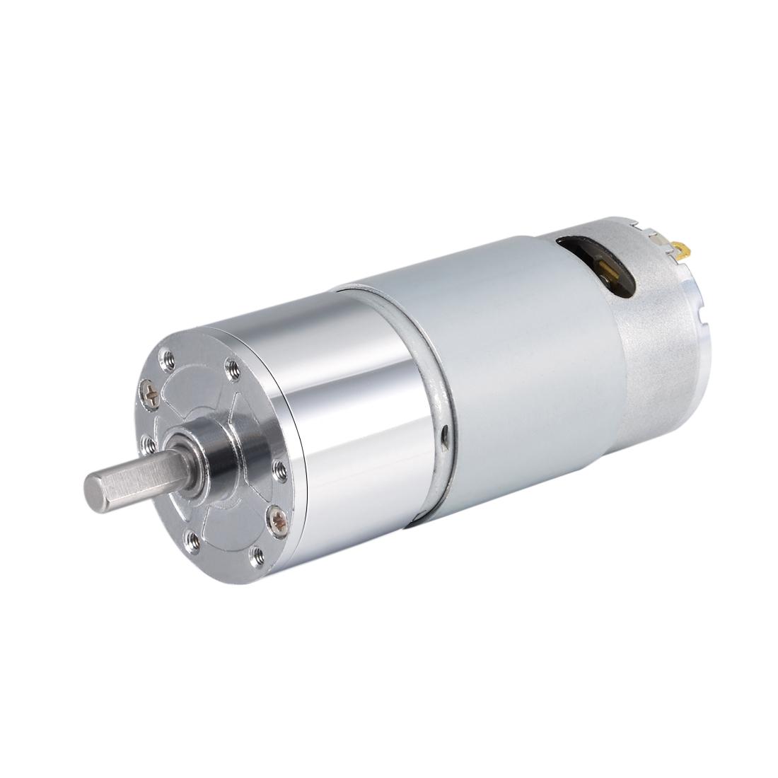 12V DC 200 RPM Gear Motor High Torque Reduction Gearbox Centric Output D Shaft