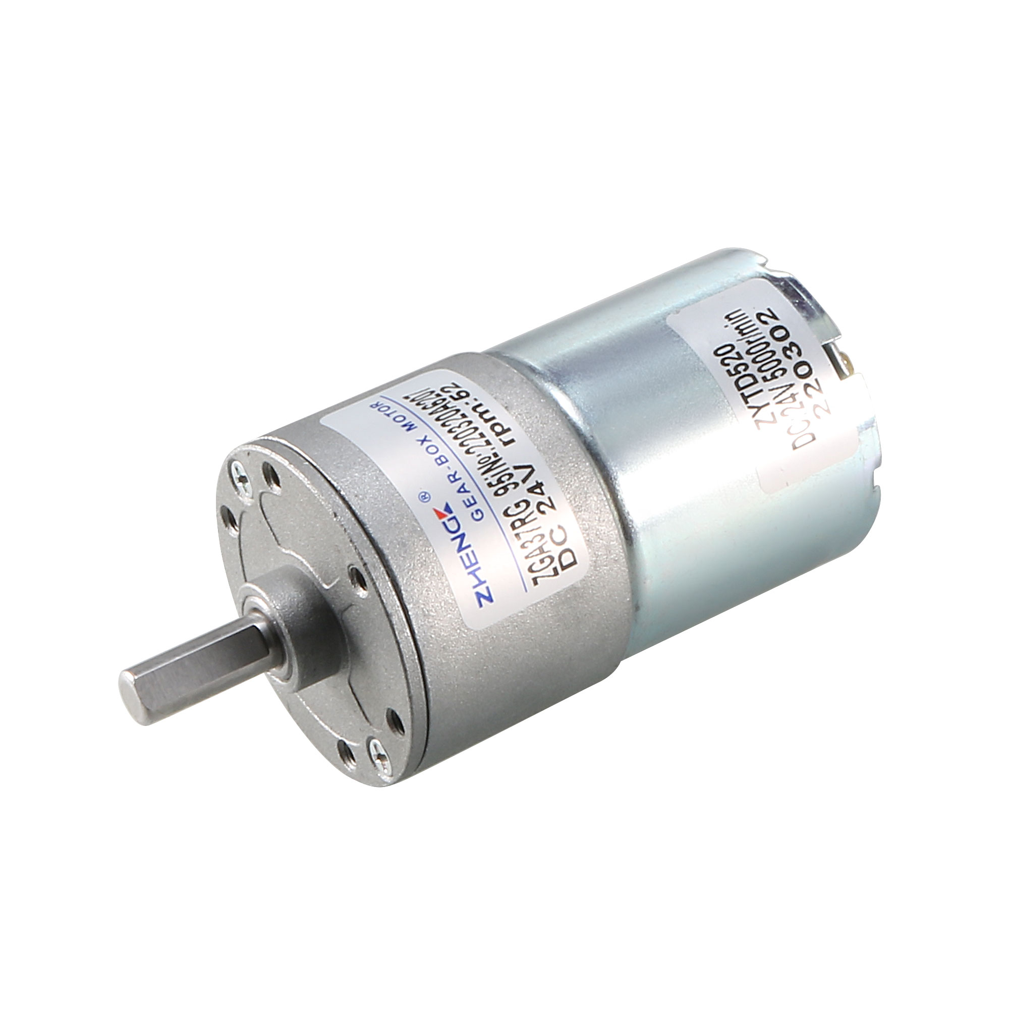 24V DC 50 RPM Gear Motor High Torque Reduction Gearbox Centric Output Shaft