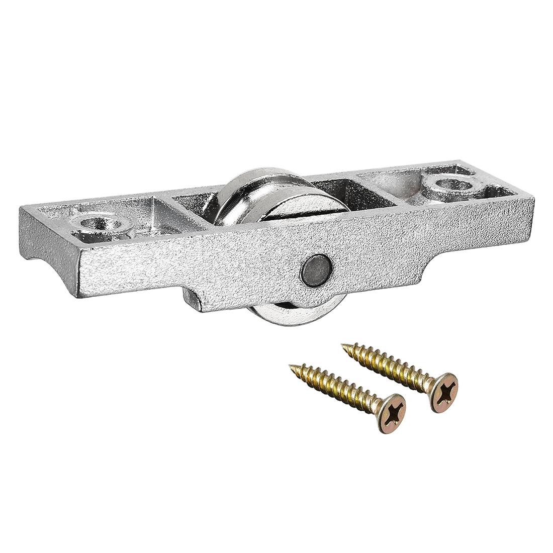 15.8mm Dia Bearing Steel Electroplating Single Wheel Sliding Door Window Pulley