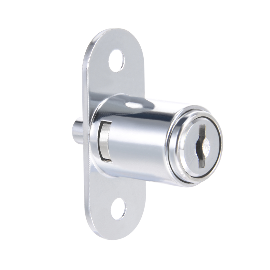23mmx19mm Cylinder Zinc Alloy Chrome Finish Plunger Lock, Keyed Different