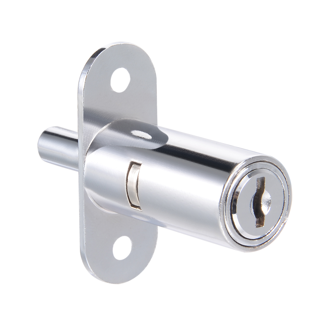 40mmx19mm Cylinder Zinc Alloy Chrome Finish Plunger Lock, Keyed Different