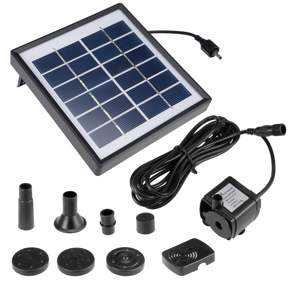 DC4.5-10V 1.5W Solar Power Fountain Water Pump Panel Kit Pool Pond Submersible