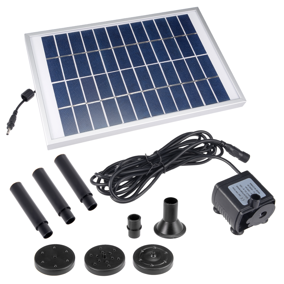 DC6-12V 5W Solar Power Fountain Water Pump Panel Kit Pool Pond Submersible