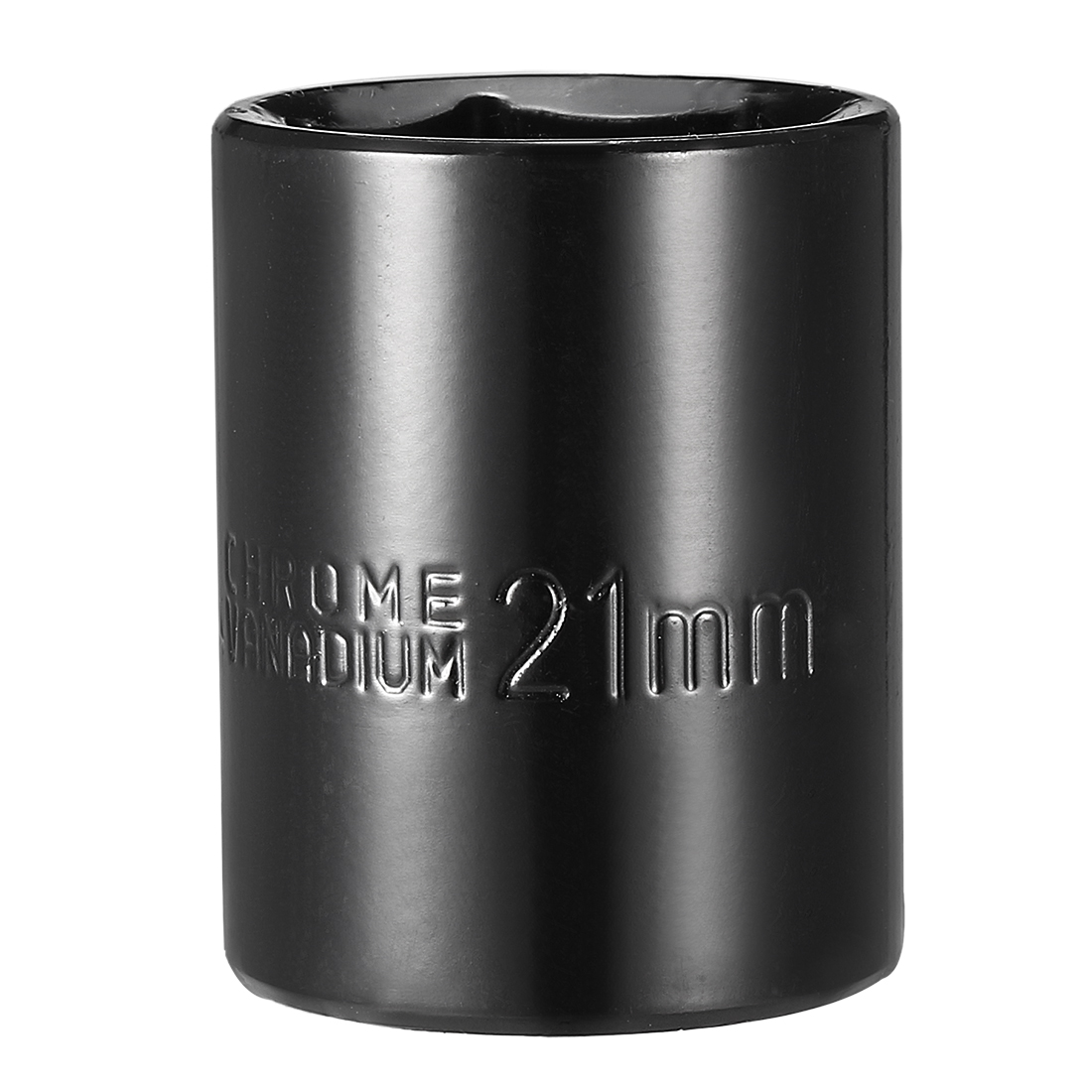 1/2-inch Drive 21mm 6-Point Shallow Impact Socket, Cr-V Steel