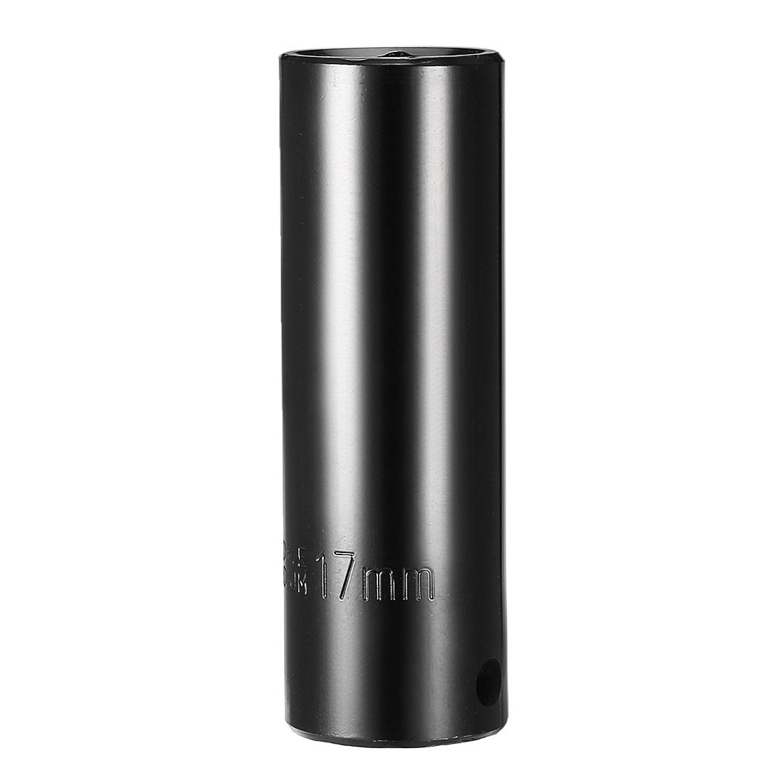 1/2-inch Drive 17mm 6-Point Deep Impact Socket, Cr-V Steel