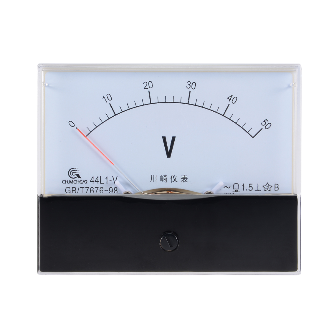 AC 0-50V Analog Panel Voltage Gauge Volt Meter 44L1 1.5% Error Margin