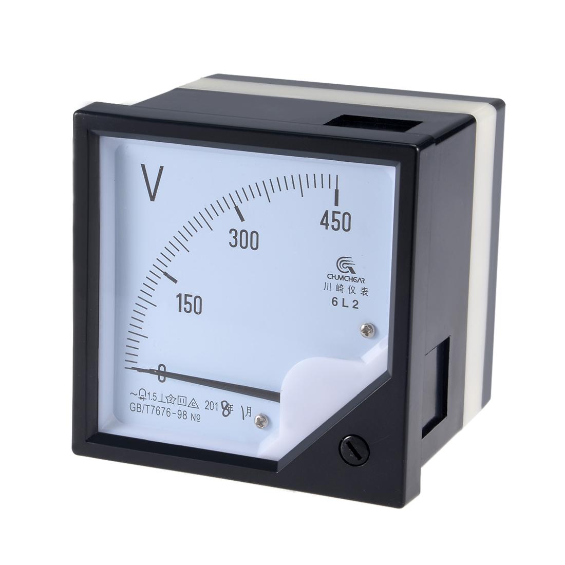 AC 0-450V Analog Panel Voltage Gauge Volt Meter 6L2 1.5% Error Margin