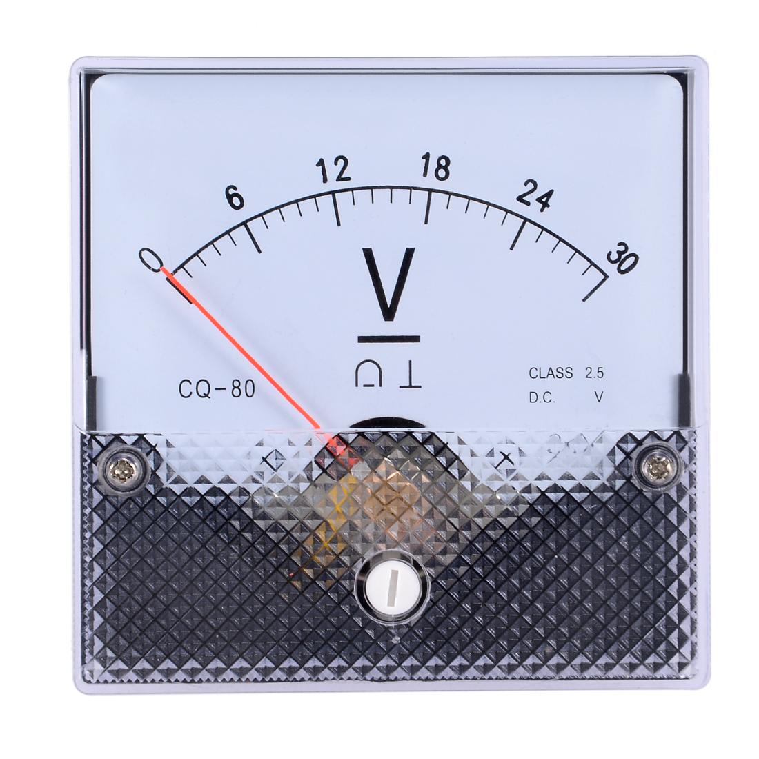AC 0-30V Analog Panel Voltage Gauge Volt Meter CQ-80 2.5% Error Margin
