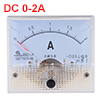 85C1-A Analog Current Panel Meter DC 2A Ammeter for Circuit Testing Ampere Tester Gauge 1 PCS