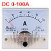 85C1-A Analog Current Panel Meter DC 100A Ammeter for Circuit Testing Ampere Tester Gauge 1 PCS