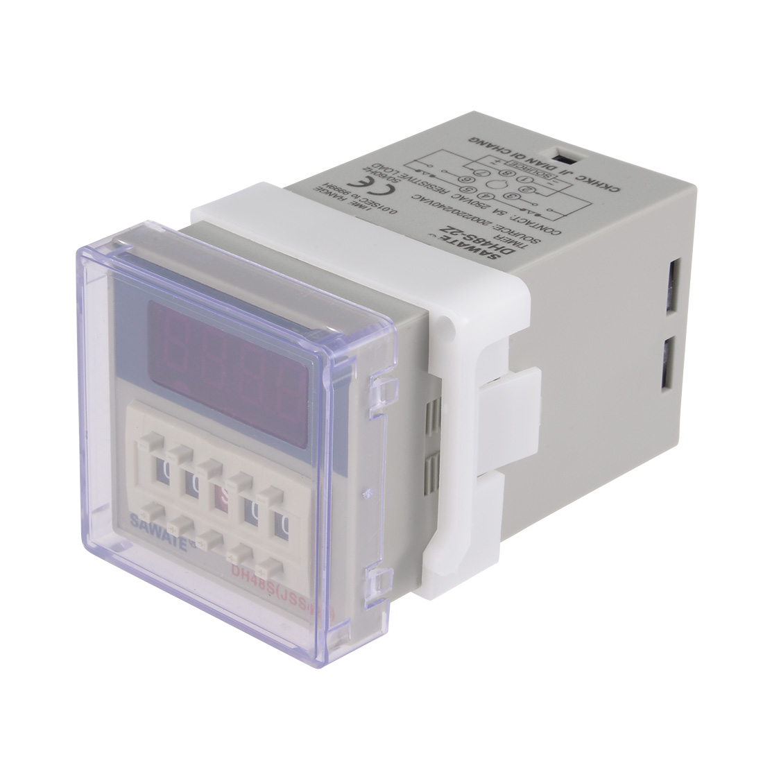 220V 0.01s-99h99m 8 Terminals Range Adjustable Delay Timer Time Relay DH48S-2Z