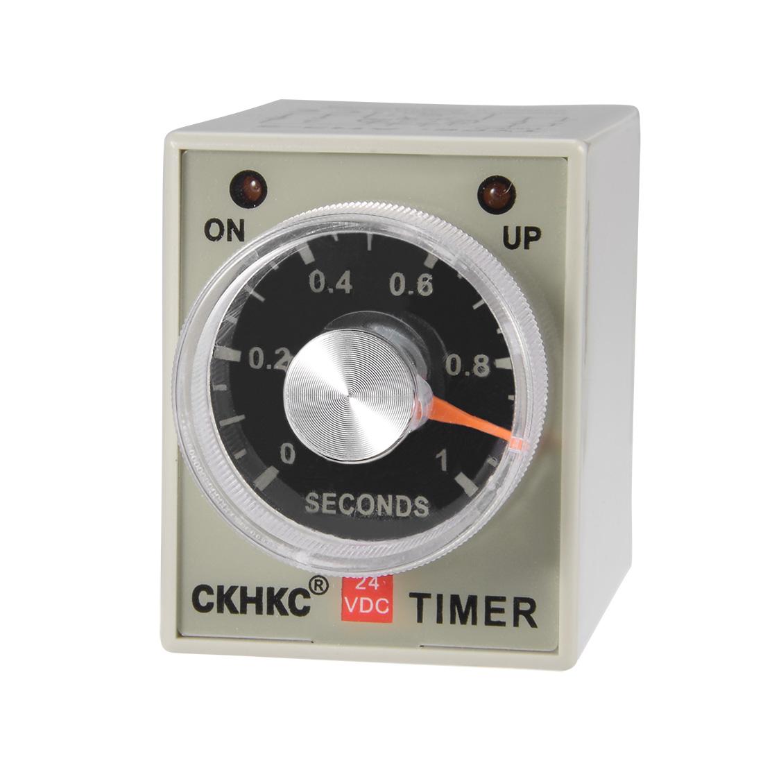 DC24V 1S 8 Terminals Range Adjustable Delay Timer Time Relay AH3-2