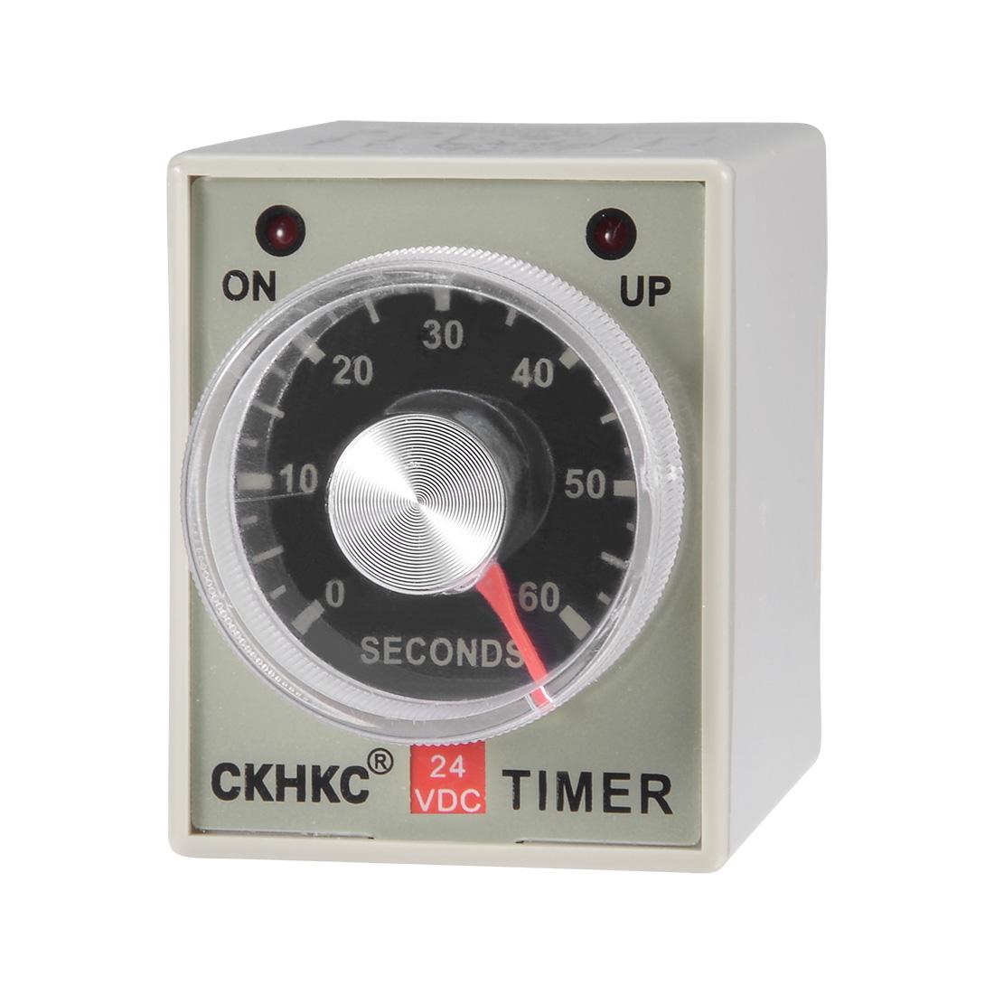 DC24V 60S 8 Terminals Range Adjustable Delay Timer Time Relay AH3-3