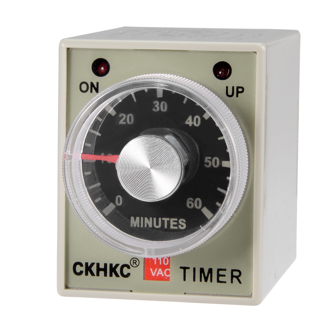 AC110V 60M Time Range 8 Terminals Adjustable Delay Timer Time Relay AH3-3