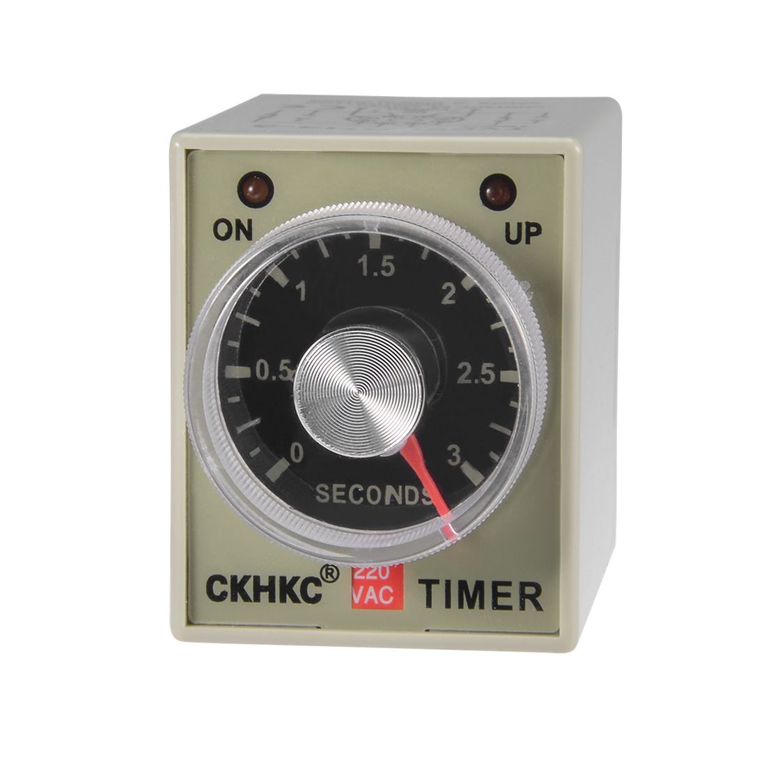 AC220V 3s 8 Terminals Range Adjustable Delay Timer Time Relay AH3-3
