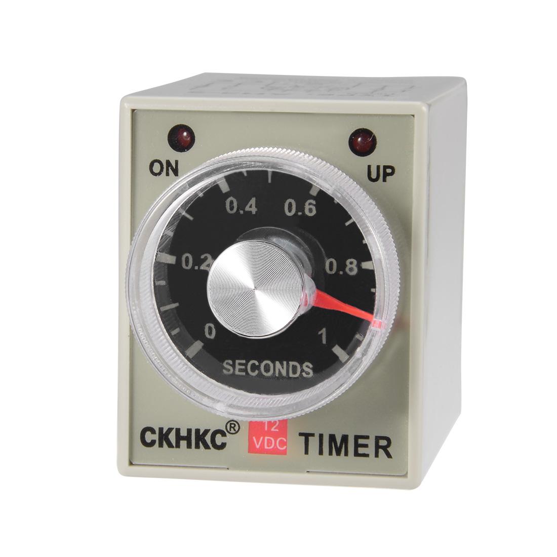 DC12V 1S 8 Terminals Range Adjustable Delay Timer Time Relay AH3-3