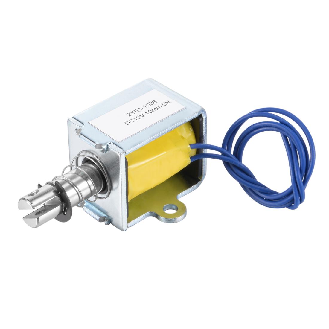 ZYE1(TAU)-1038 DC 12V,Pull Type Open Frame Solenoid Electromagnet