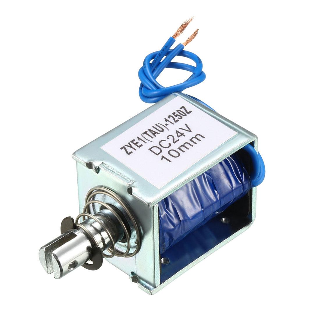 ZYE1(TAU)-1250Z DC 24V Push Pull Type Open Frame Solenoid Electromagnet