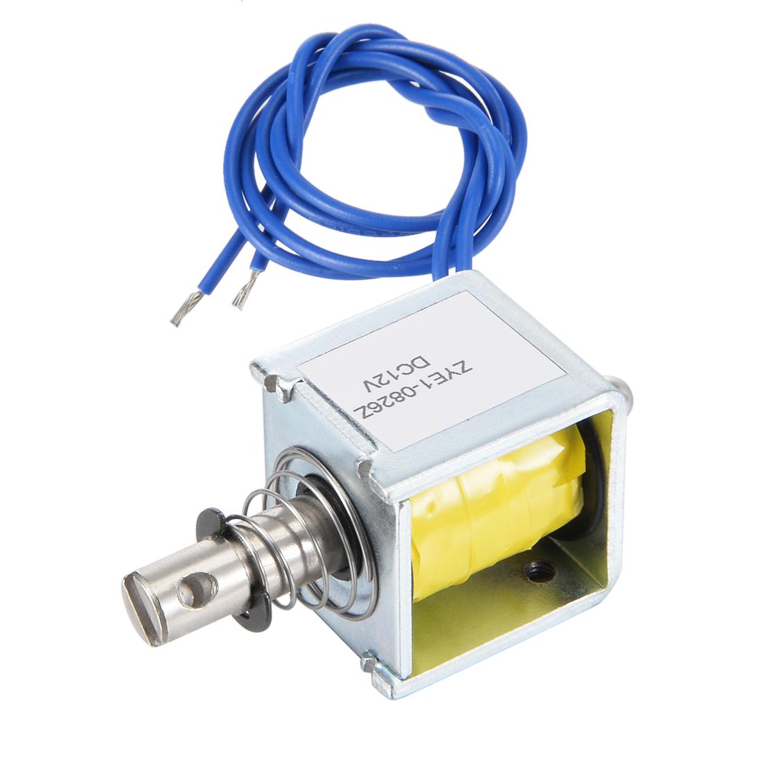 ZYE1(TAU)-0826Z DC 12V 14.4W Push Pull Type Open Frame Solenoid Electromagnet