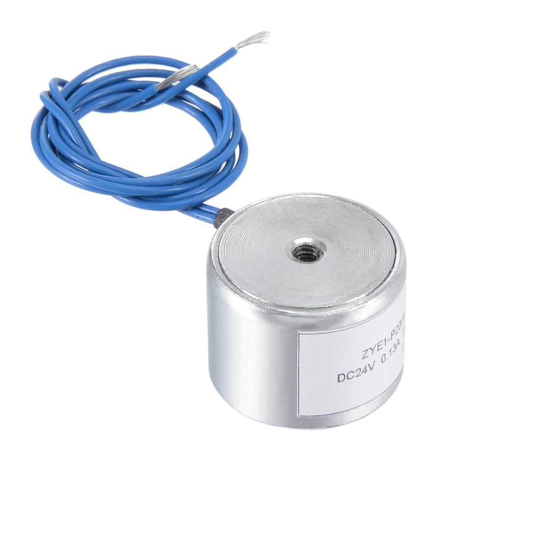 20mm x 15mm DC24V 0.13A 25N Sucking Disc Solenoid Lift Holding Electromagnet