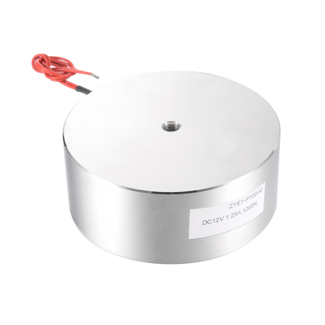 100mm x 40mm DC12V 1.25A 1200N Sucking Disc Solenoid Lift Holding Electromagnet