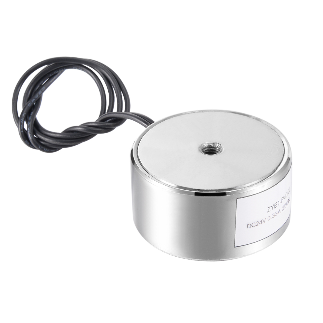 40mm x 20mm DC24V 0.33A 250N Sucking Disc Solenoid Lift Holding Electromagnet