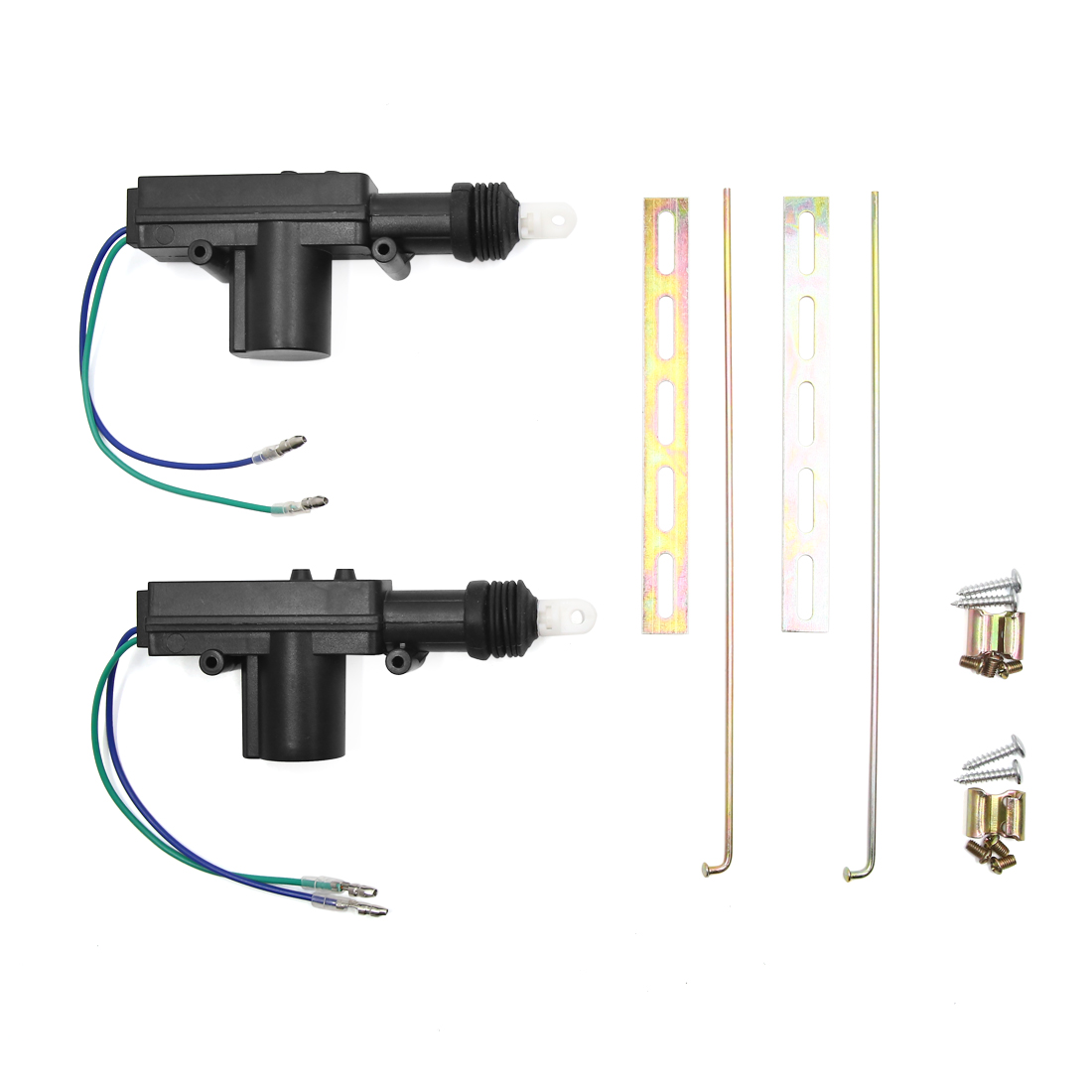 2pcs DC 12V Unviersal Car Central Locking System 2 Wire Power Door Lock Actuator